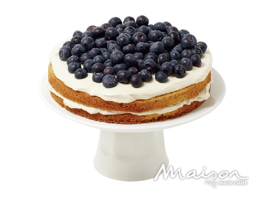 블루베리 두부 크림 케이크